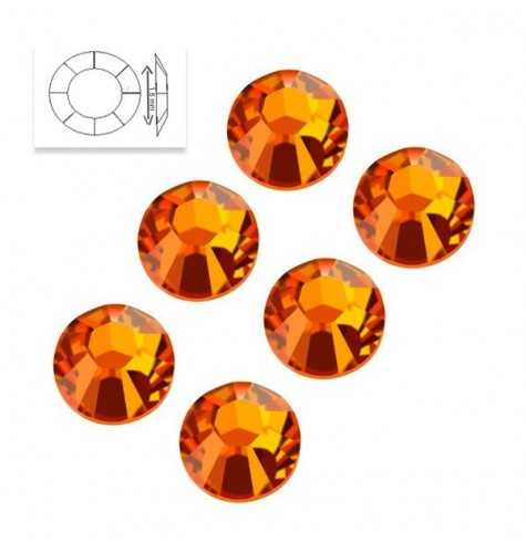 Strass Swarovski SS5 Orange Sun 50 pcs manucure ongles et nail art en gel uv