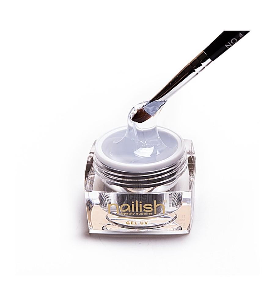 Gel UV Builder Nailish Thick 15 ml pour manucure ongles et nail art en gel uv.