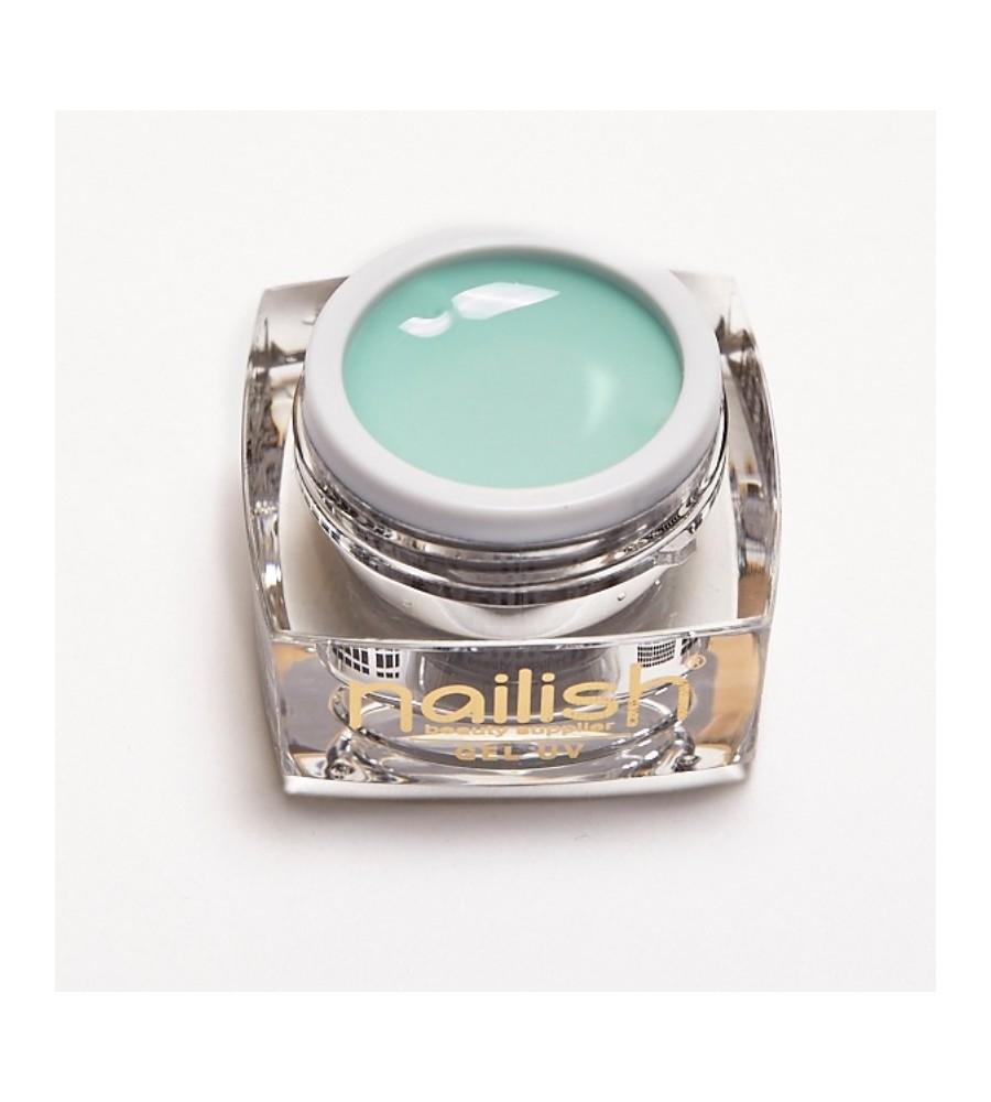 Gel UV Color Nailish Silky green 5 ml pour manucure ongles et nail art en gel uv.