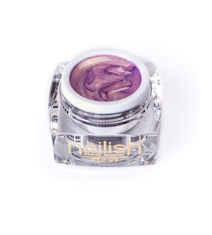 Nailish UV Gel Glitter Golden Purple 5 ml