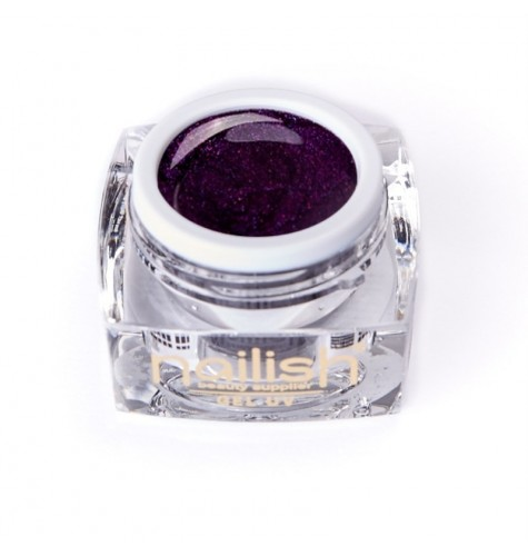 Gel UV/LED Glitter Nailish Dark Mauve 5ml