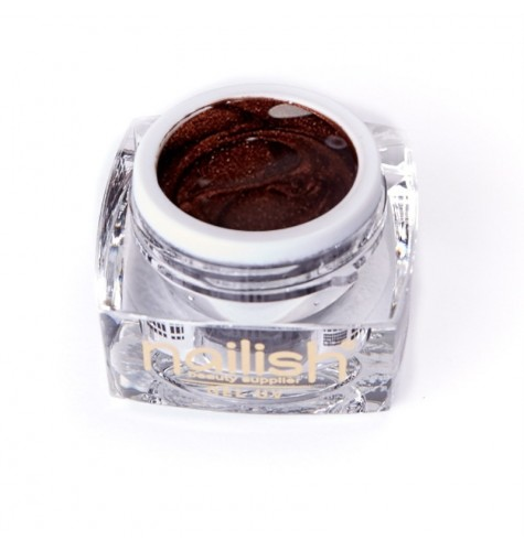 UV Gel Glitter Nailish Brown 5 ml