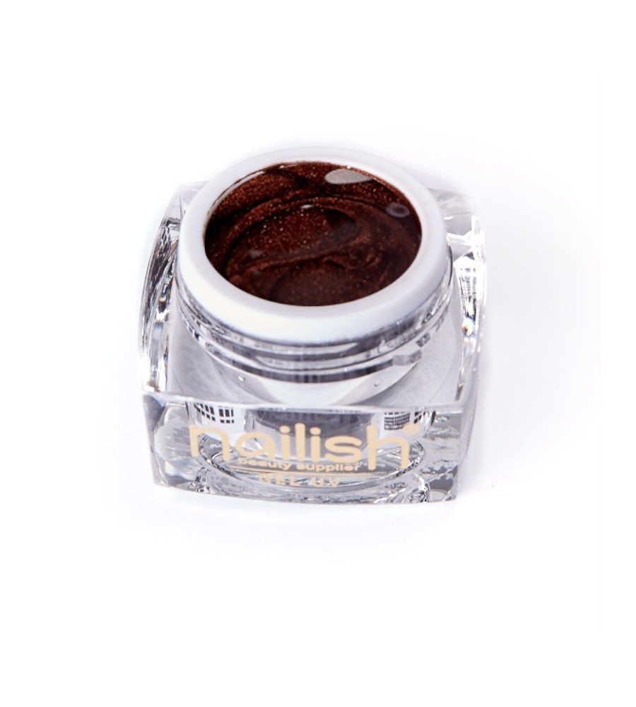 UV Gel Glitter Nailish Brown 5 ml pour manucure ongles et nail art en gel uv.