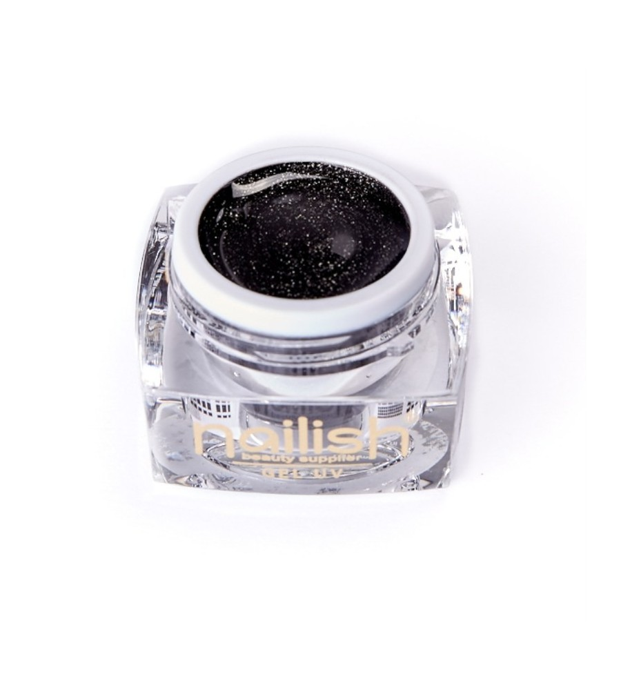 UV Gel Glitter Nailish Black Diamond 5 ml pour manucure ongles et nail art en gel uv.