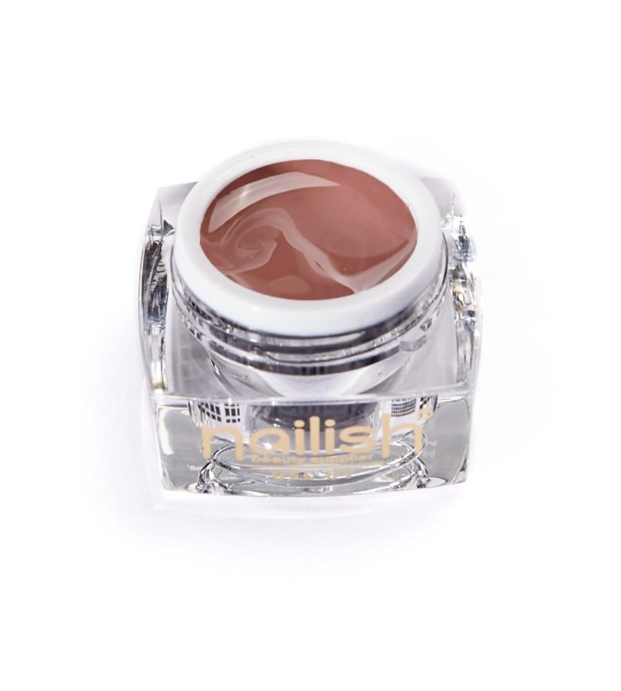 Gel UV Color Nailish Noisette 5 ml pour manucure ongles et nail art en gel uv.