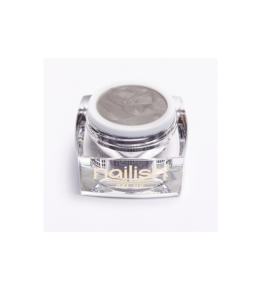 UV Gel Nailish Sparkling Silver 5ml pour manucure ongles et nail art en gel uv.