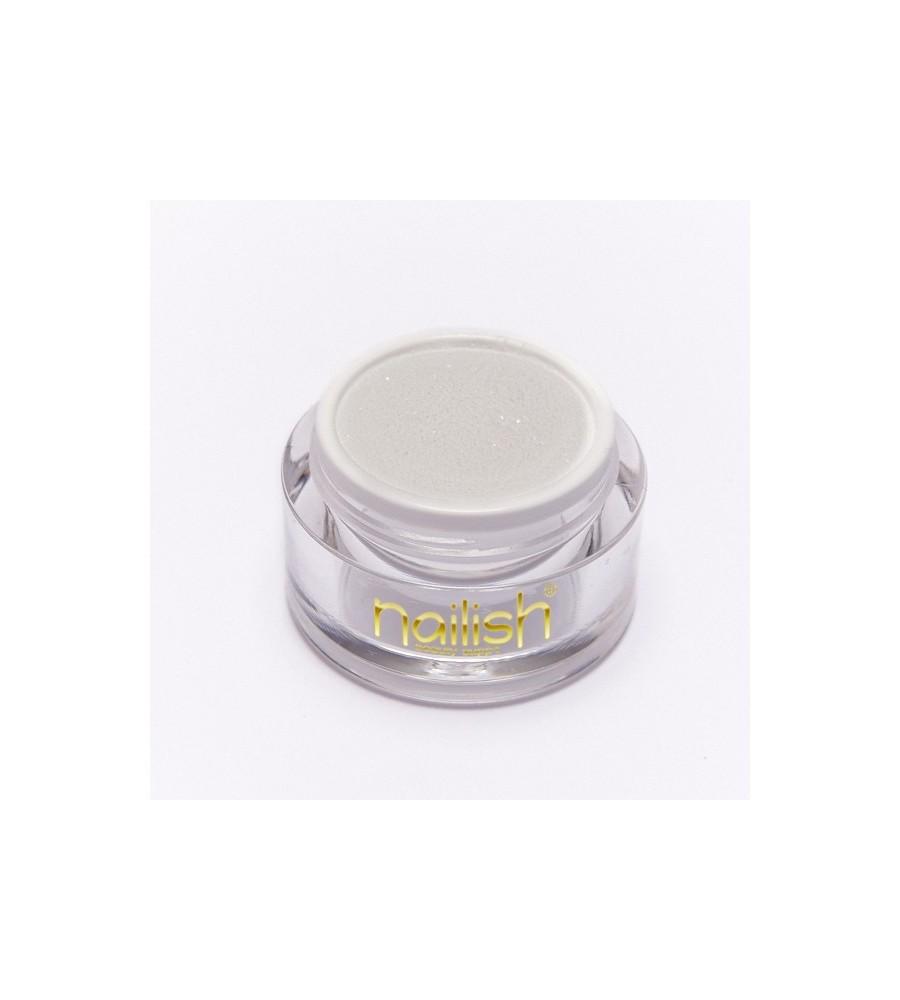 Nailish Poudre Acrylique Color Glitter White 3.5 gr - résine, momnomère, gel, manucure ongles et nail art pour gel uv