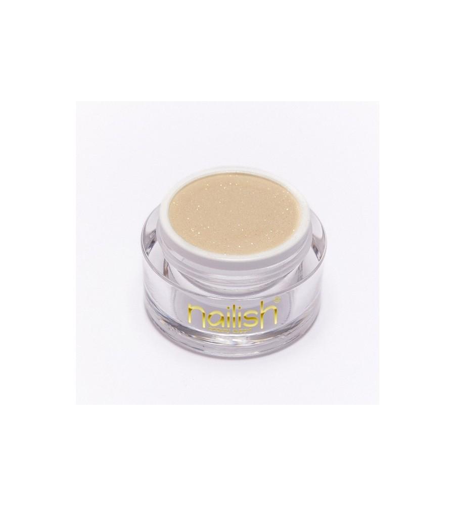 Nailish Poudre Acrylique Color Glitter Gold 3.5 gr - résine, momnomère, gel, manucure ongles et nail art pour gel uv