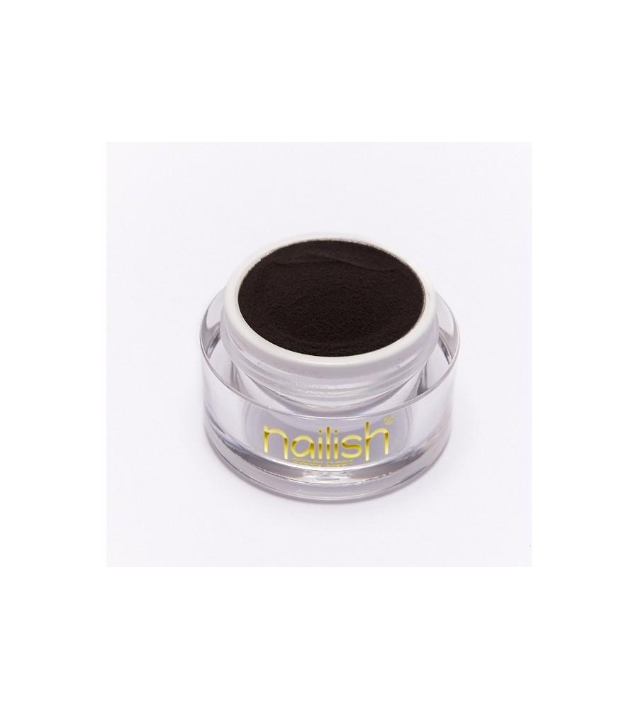 Nailish Poudre Acrylique Color Black 3.5 gr - résine, momnomère, gel, manucure ongles et nail art pour gel uv