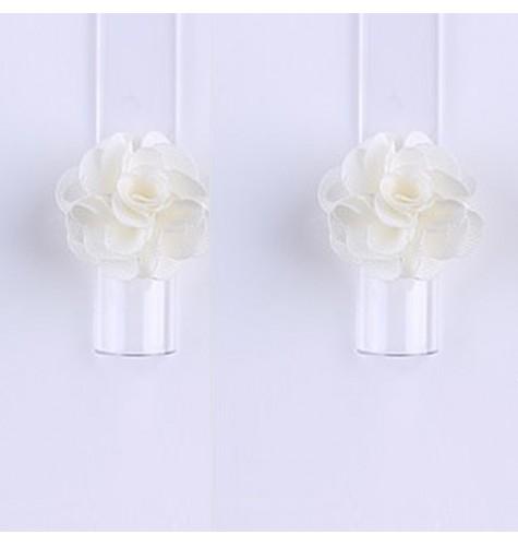 Décor 3D Fleur Aimant Tissu Beige 1 pcs