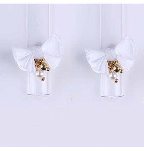 Décor 3D Fleur Aimant Tissu Blanc 1 pcs