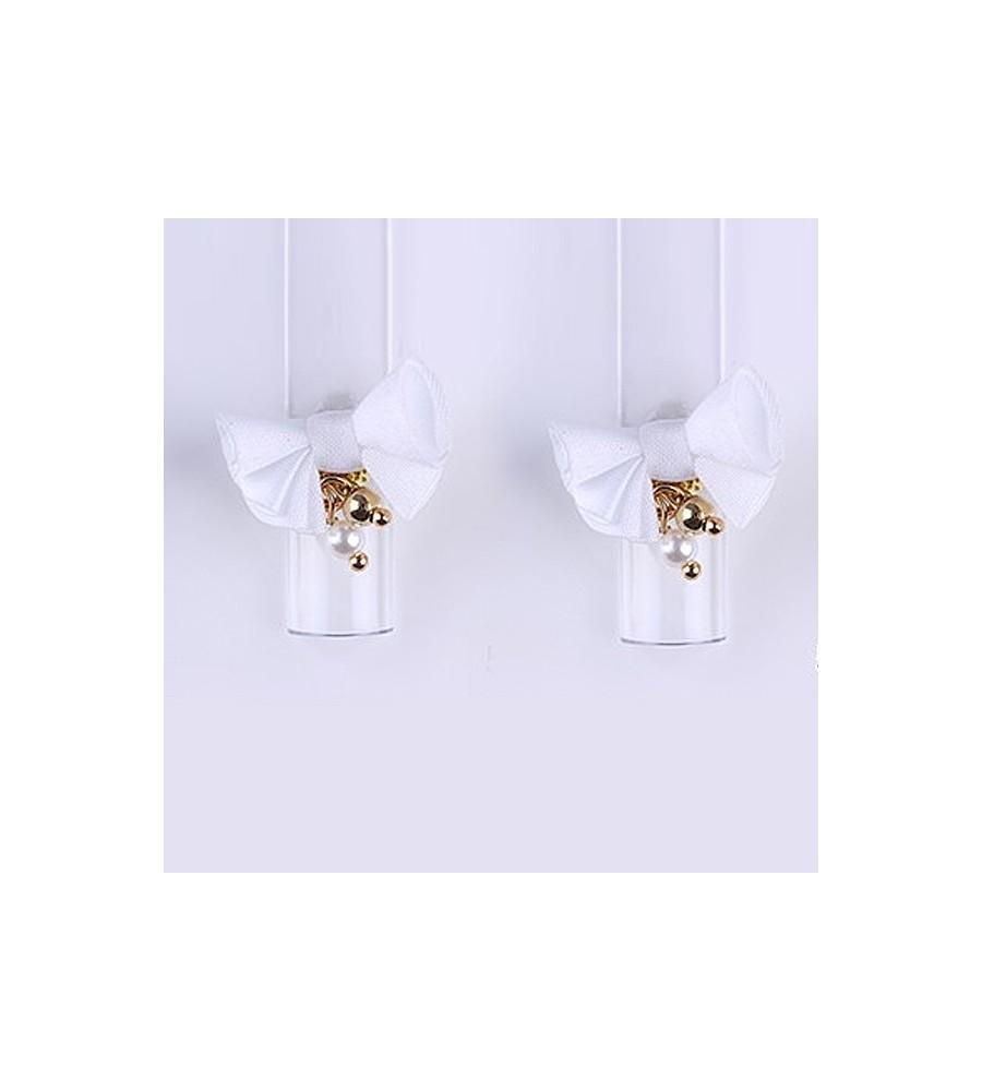 Décor 3D Fleur Aimant Tissu Blanc 1 pcs pour manucure ongles et nail art en gel uv