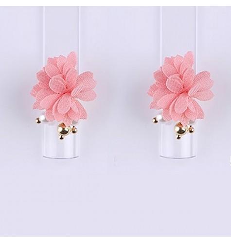 Décor 3D Fleur Marguerite Aimant Tissu Rose 1 pcs