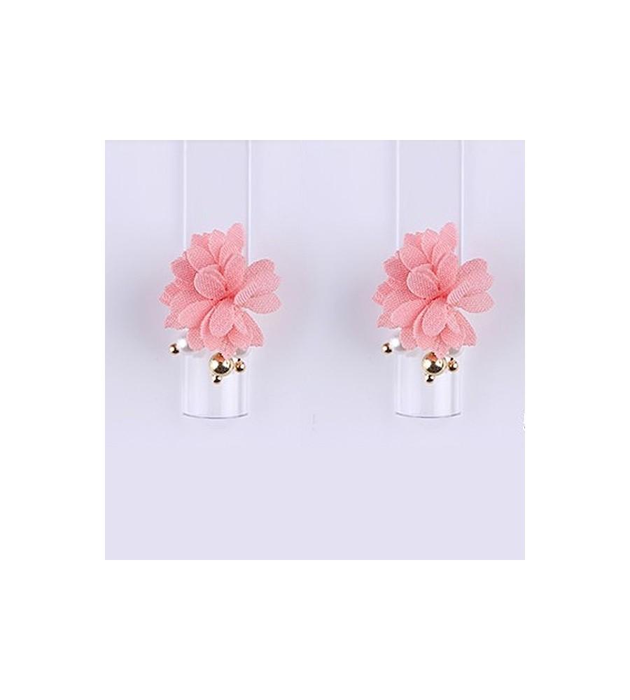 Décor 3D Fleur Marguerite Aimant Tissu Rose 1 pcs pour manucure ongles et nail art en gel uv