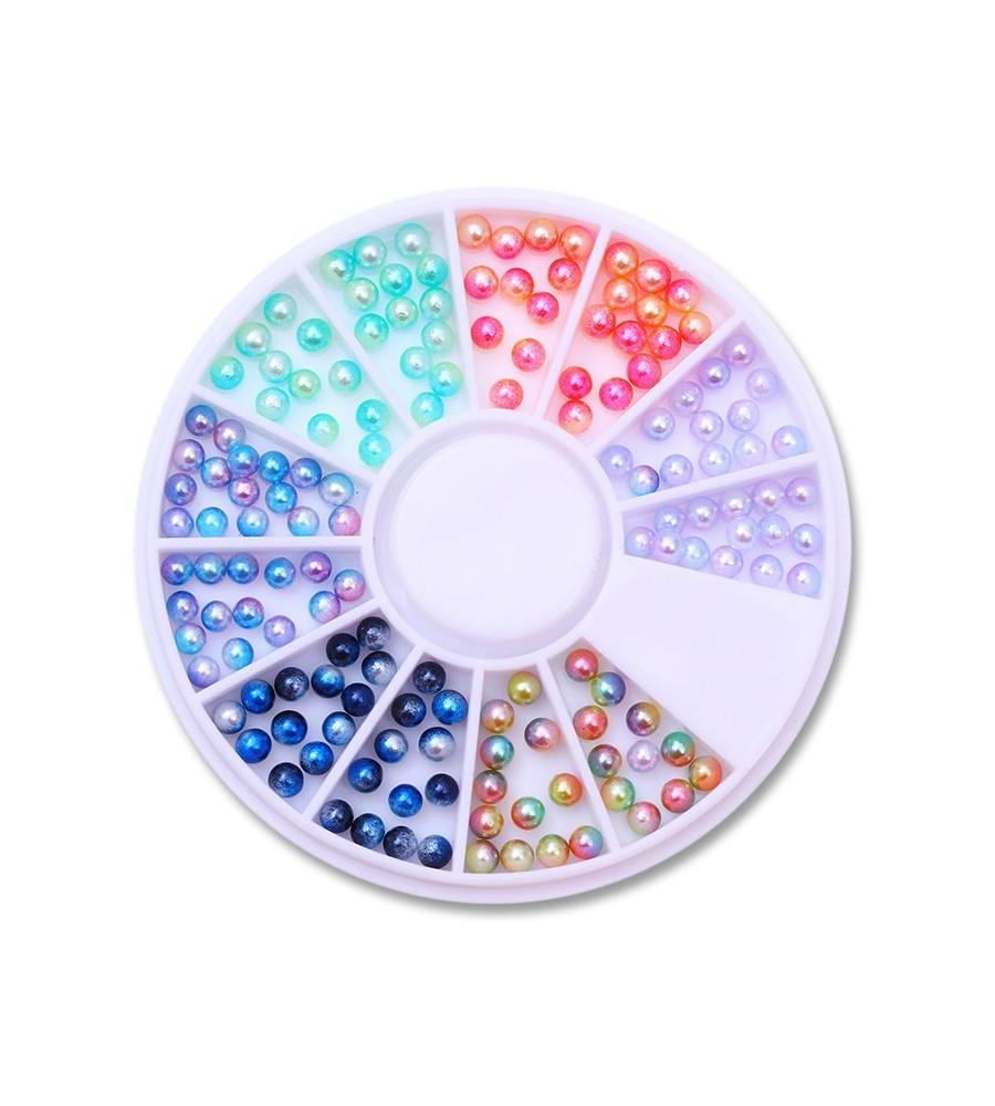 Caroussel Perles 6 Couleurs manucure ongles et nail art en gel uv