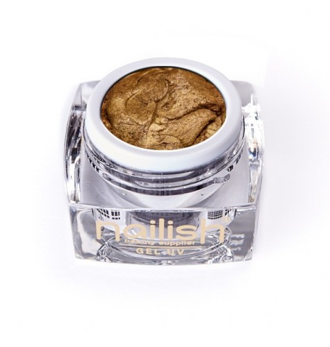 Gel UV/LED PlastArt Nailish Dark Gold 5 ml