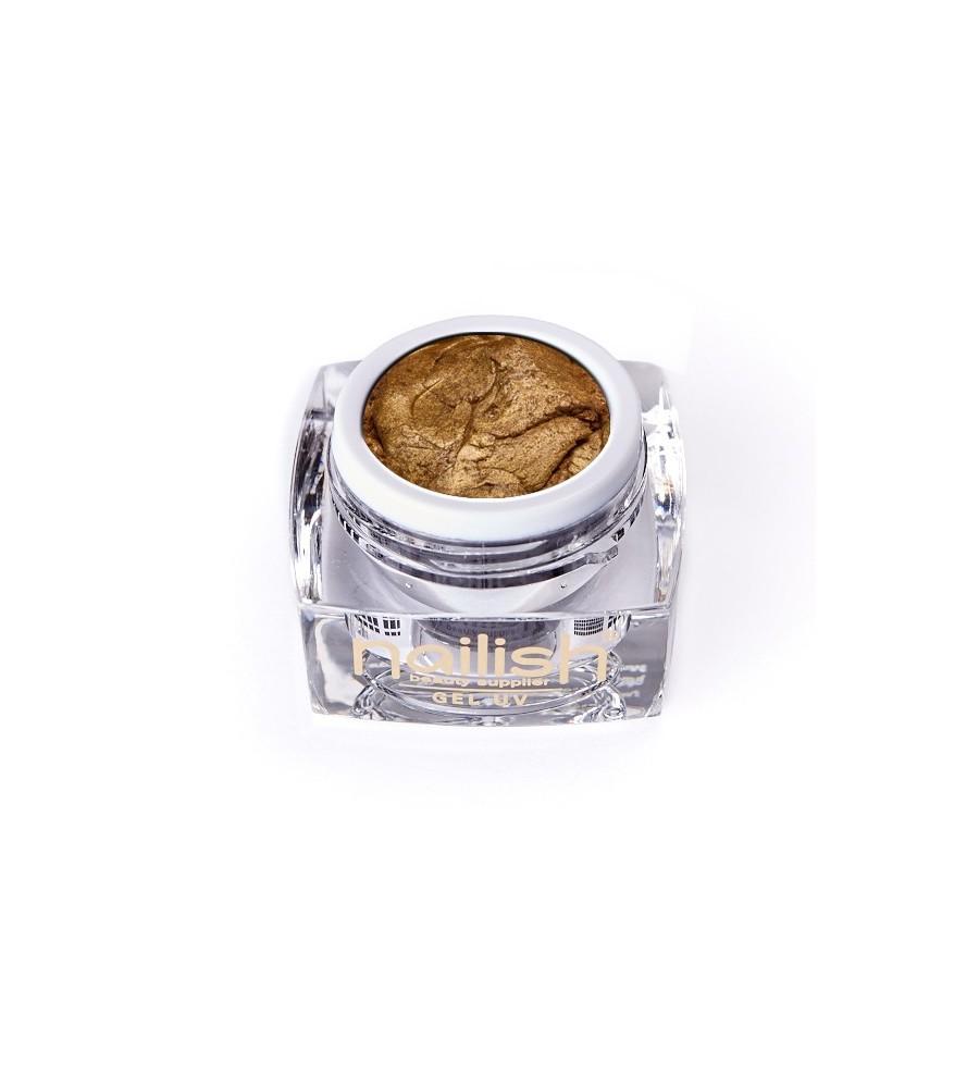 Gel UV/LED PlastArt Nailish Dark Gold 5 ml manucure ongles et nail art en gel uv