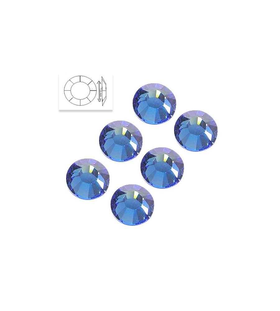Strass Swarovski SS4 Light Sapphire 50 pcs manucure ongles et nail art en gel uv