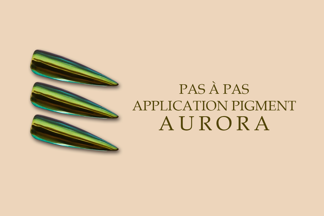 pas a pas application pigment aurora