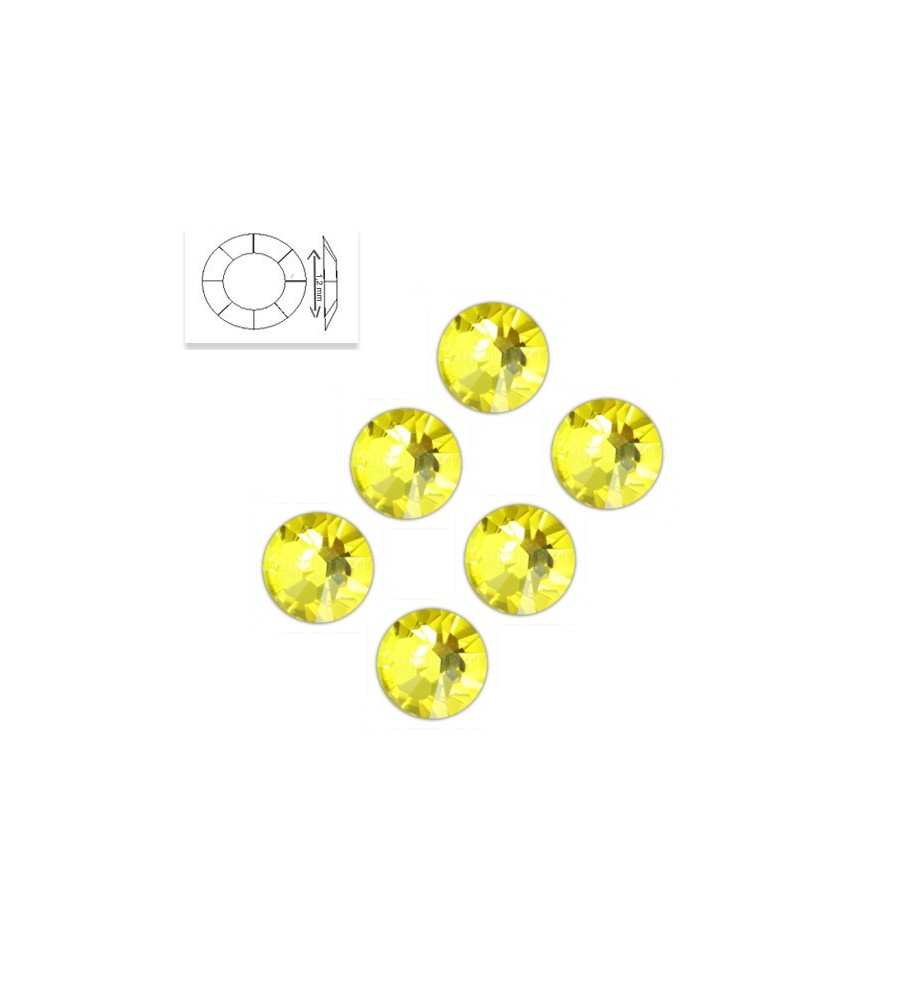 Strass SS4 Citrine 50 pcs manucure ongles et nail art en gel uv