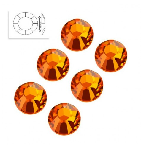 Strass Swarovski SS4 Orange Sun manucure ongles et nail art en gel uv