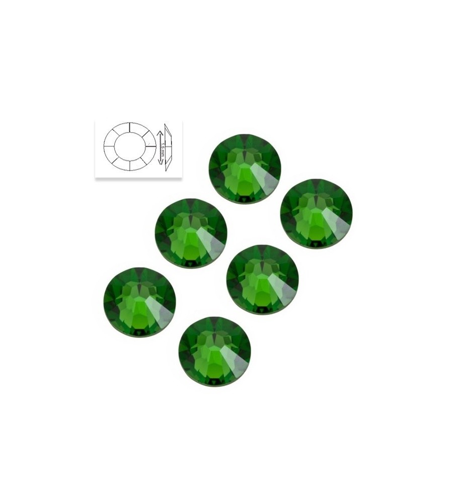 Strass Swarovski SS5 Grass Green manucure ongles et nail art en gel uv