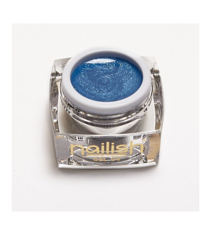 Glitter Gel Pearly Petrol Nailish 5ml pour manucure ongles et nail art en gel uv.