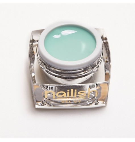 Gel UV - LED Color Nailish Silky green 5 ml.