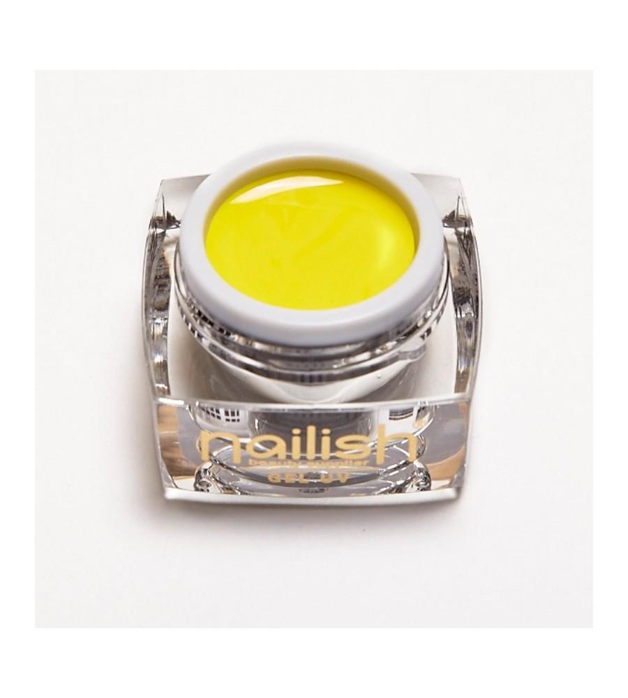 Color Gel Yellow Nailish 5 ml pour manucure ongles et nail art en gel uv.