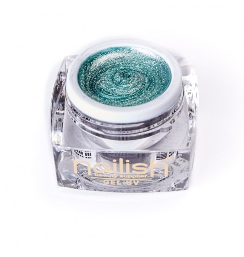 UV LED Gel Glitter Nailish Emeraud Fine 5 ml.