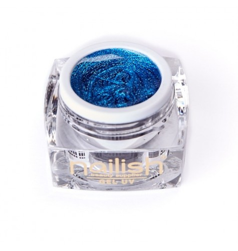 Gel UV LED Glitter Nailish Daring Blue 5 ml.