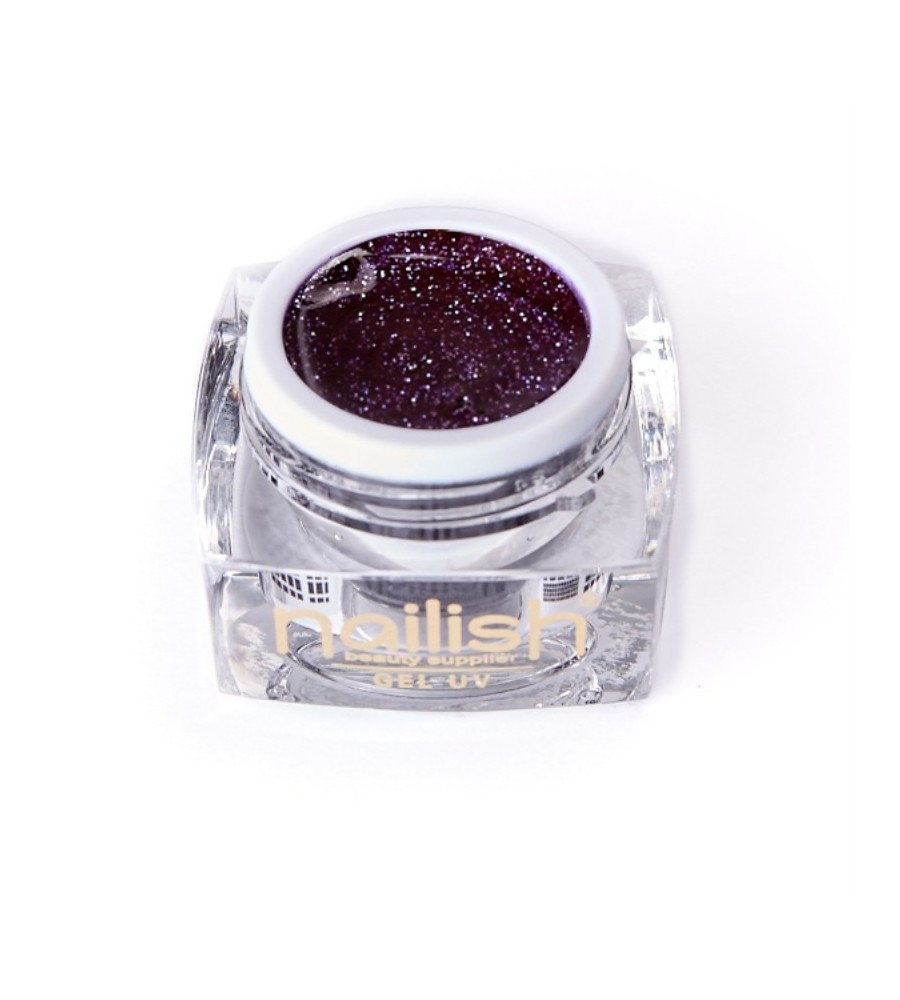 Gel UV Glitter Nailish Galaxy 5 ml pour manucure ongles et nail art en gel uv.