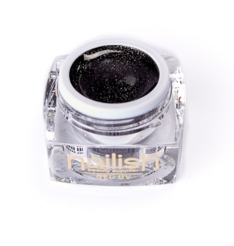 UV LED Gel Glitter Nailish Black Diamond 5 ml.