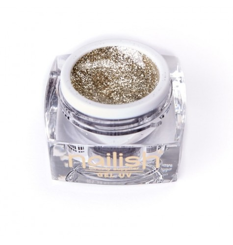 UV LED Gel Glitter Nailish Prosecco 5 ml.