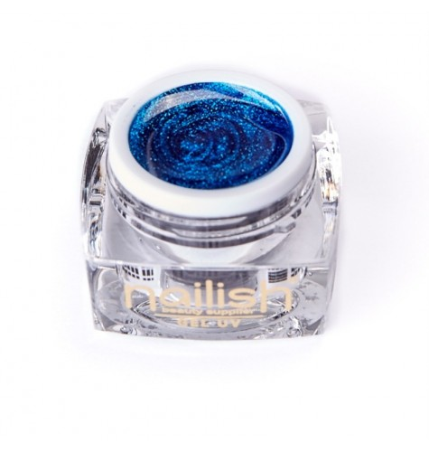 Gel UV/LED Glitter Nailish Sparkling Blue 5 ml.