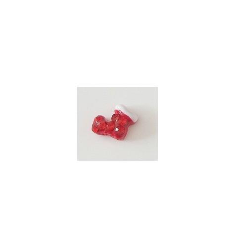 Décor 3D Botte Rouge Cristaux 1 pcs