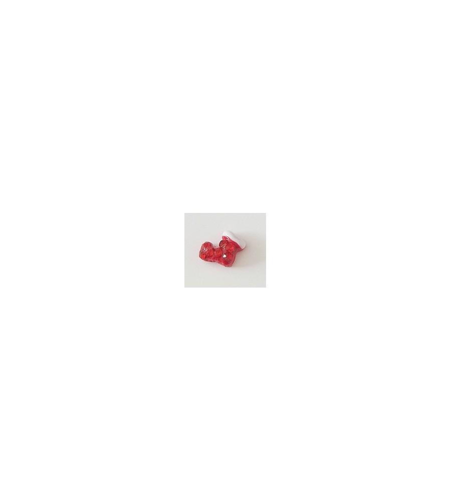 Décor 3D Botte Rouge Cristaux 1 pcs - manucure ongles et nail art
