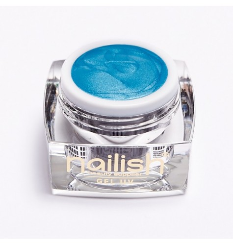 UV LED Gel Glitter Nailish Blue Sky Fine 5 ml.