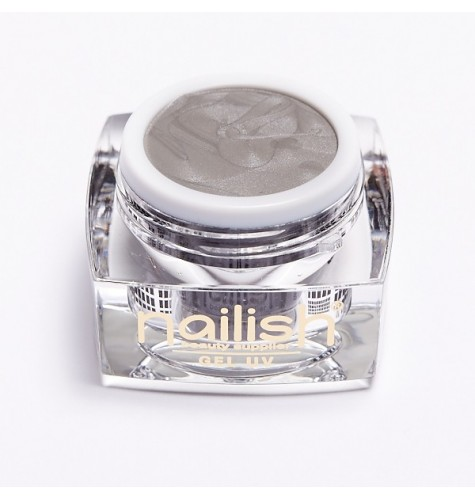 UV - LED Gel Glitter Nailish Sparkling Silver 5ml.