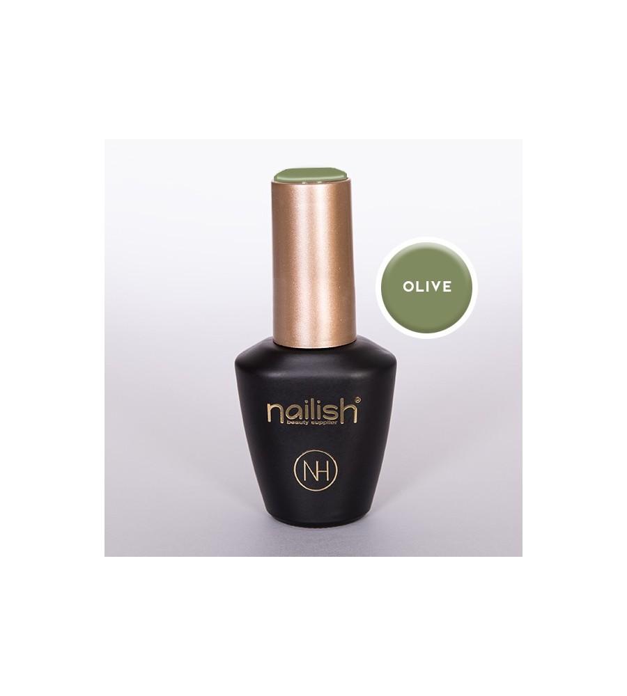 Vernis Semi Permanent Nailish Olive 12 ml UV / LED - manucure ongles et nail art pour gel uv