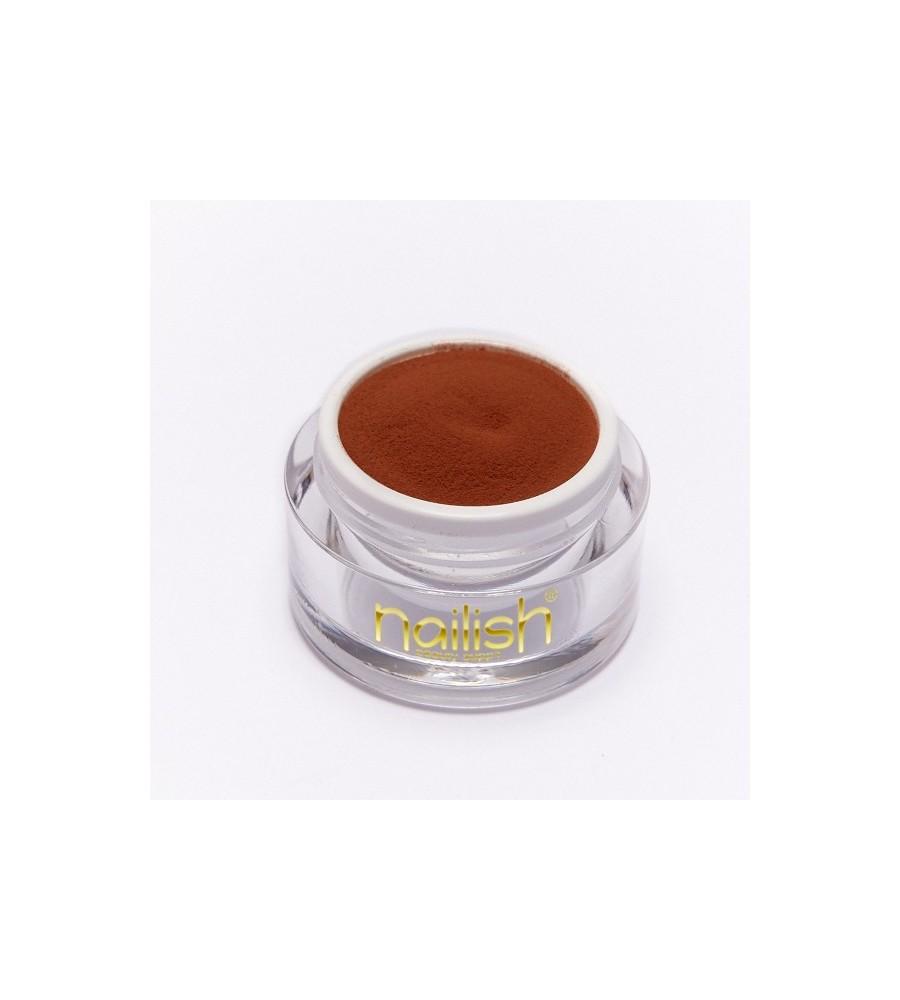 Nailish Poudre Acrylique Color Brown 3.5 gr - résine, momnomère, gel, manucure ongles et nail art pour gel uv