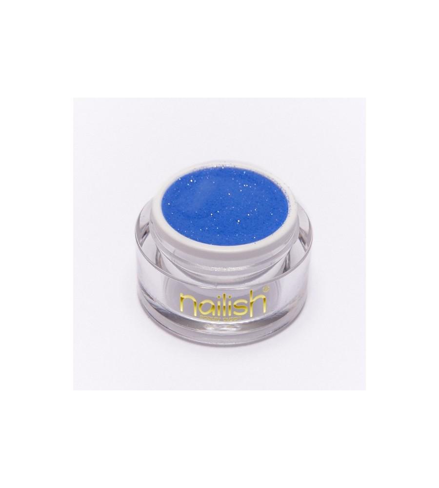 Poudre Acrylique Nailish Color Blue Azure 3.5 gr - manucure ongles et nail art pour gel uv