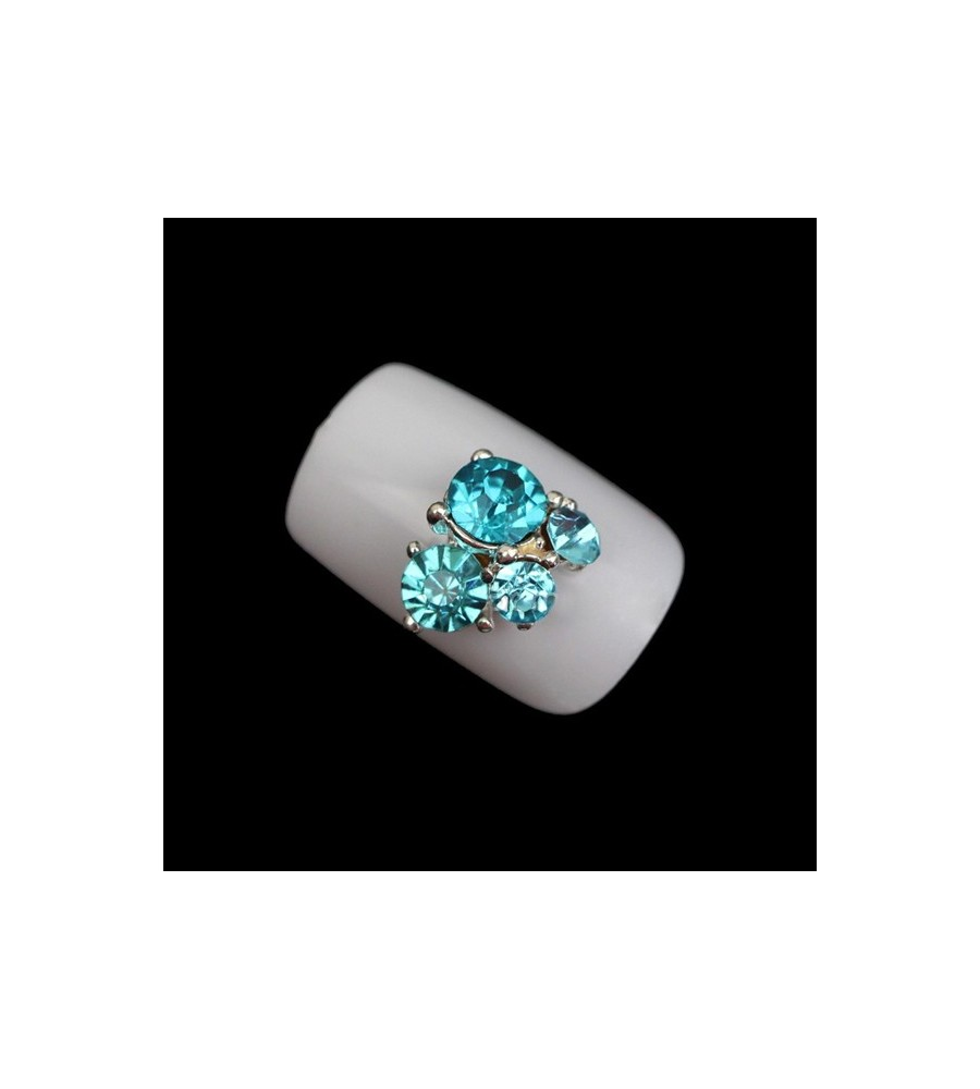 Décor 3D Blue Rhinestone 1 pcs