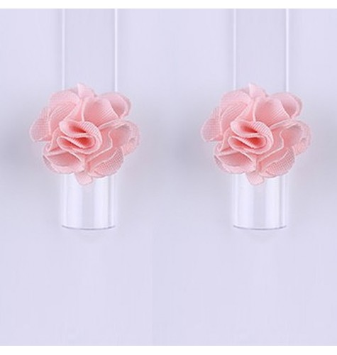Décor 3D Fleur Aimant Tissu Rose 1 pcs