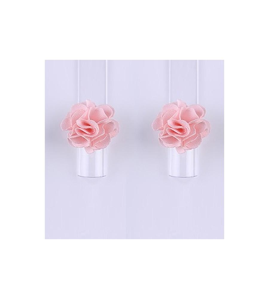 Décor 3D Fleur Aimant Tissu Rose manucure ongles et nail art en gel uv