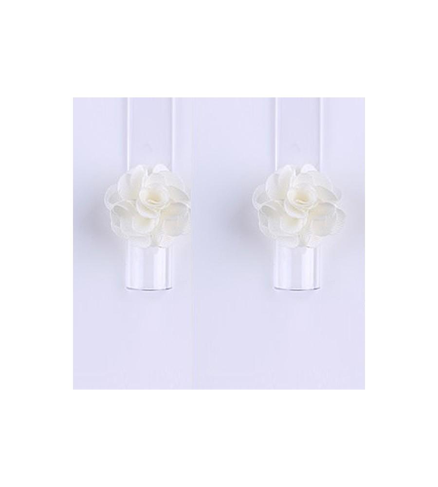 Décor 3D Fleur Aimant Tissu Beige pour manucure ongles et nail art en gel uv