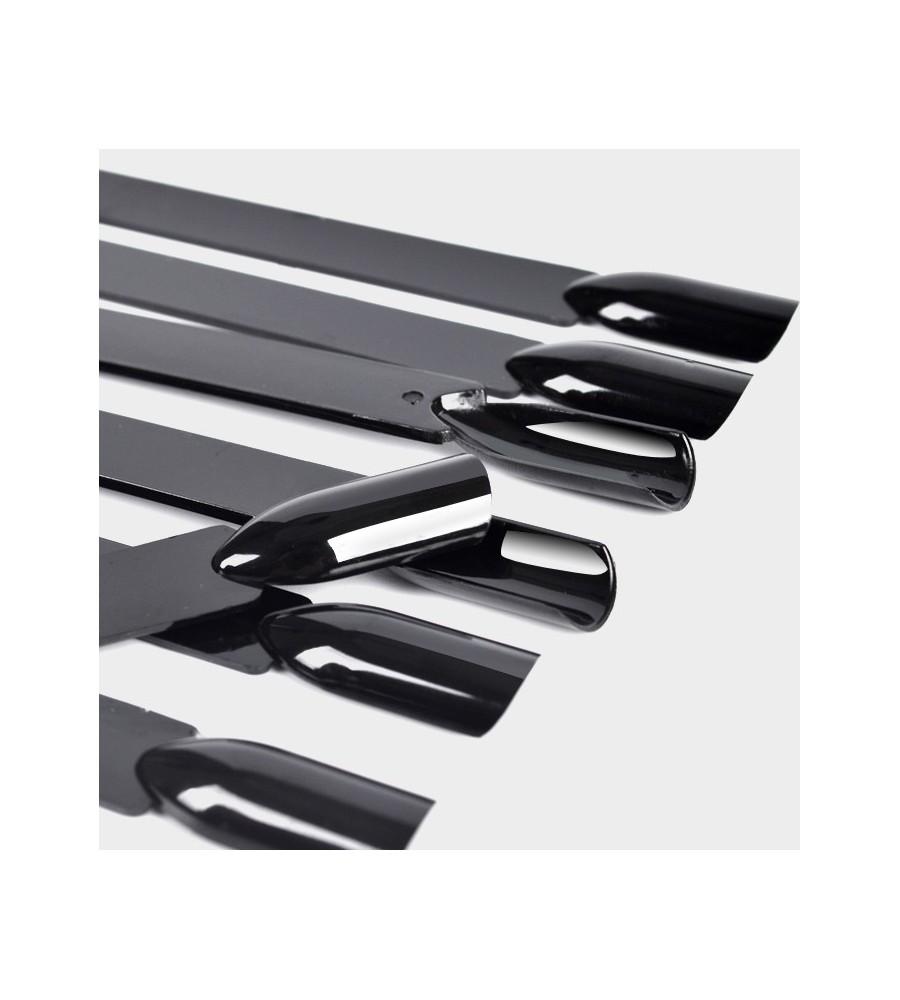 Nuancier Evantail Noir 50 tips pour manucure ongles et nail art en gel uv.