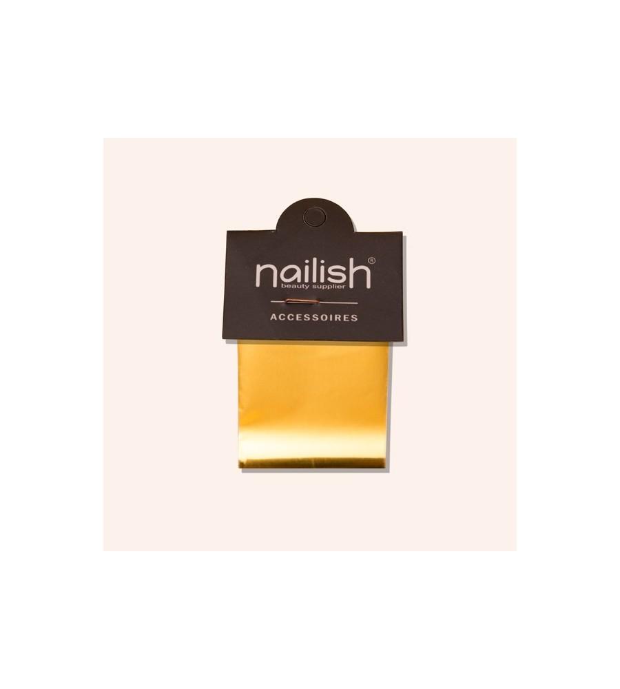 Foil Doré Nailish pour manucure ongles et nail art en gel uv.