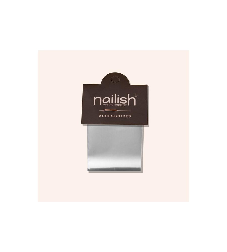 Foil Transfer Silver Nailish pour manucure ongles et nail art en gel uv.
