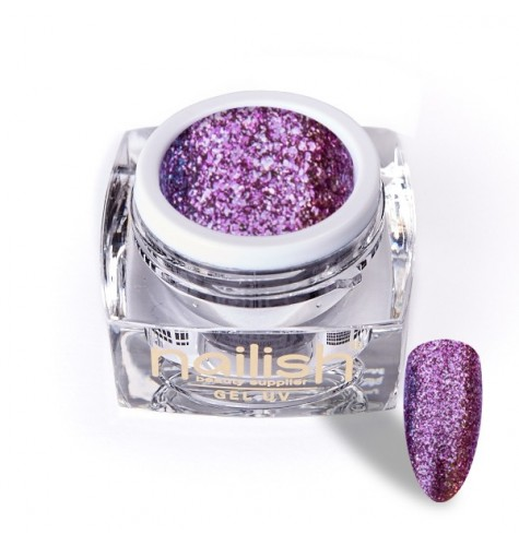 Gel Glitter UV/LED Luxury Dark Pink 5ml.